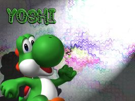 Yoshi Wallpaper by Strawberryshit