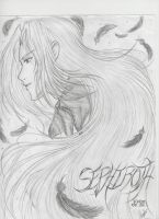 Sephiroth Sketch by IceMaidenChiyoe