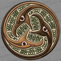 Targe of the Eagle (traditional style) by AltaraTheDark
