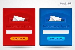 Subscription form design by psdblast