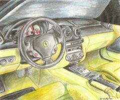 Ferrari Interior by I-Dont-Do-Art