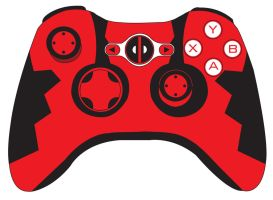 Deadpool Xbox Controller by mexicoknight