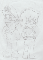  WIP  Mr. L and Ms. G by SuperBabyPeach