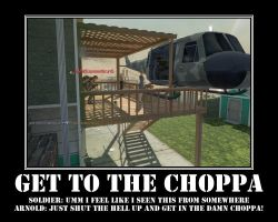 GET TO THE CHOPPA, DO IT NOW by ImmortalGrimm