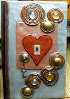 Heart with Key Notebook by Brisbykins