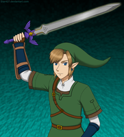 Link and his Master Sword by YuiHoshi