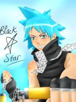 Black Star_Soul Eater by Thildou-chan