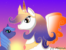 Mother And Daughter by CrazyAngelPony