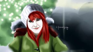 Celebrity Christmas Painting no.1: Hayley Williams by kamei47