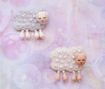 sleepy sheep brooches by a1as