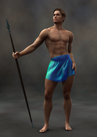 Man with Spear by timberoo