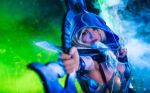 Drow Ranger Dota 2 cosplay. My bow is strung! by amio-mio