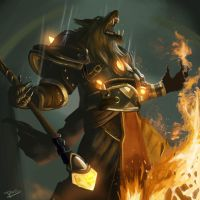 Fire mage worgen by Nao-Chan-91