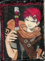 Gaara lineart colored by darkGarra