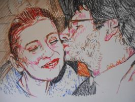 Deb and EJ in marker by fbforbill