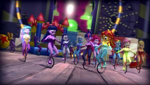 One-Wheeled Equestria Girls by ErichGrooms3