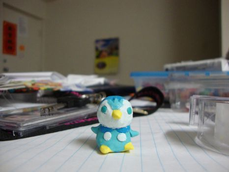 Piplup- Polymer Clay by Cubnime