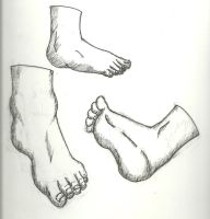 Foot Sketches by TalentlessHacked
