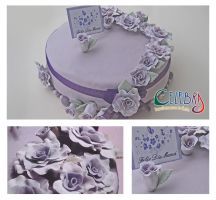 Lilac Rose Mother's Day cake by The-Nonexistent