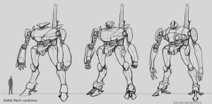 Battle mechs - variations by IZRA