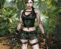 Lara Croft. coloured by lloveandsqualor