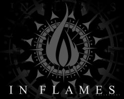 In Flames Wallpaper Black by Hellknight10