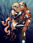 Iron Man 'n Ms. Marvel colors by Durandus