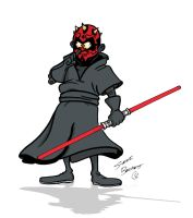 Darth Maul picking his nose by Steve3po