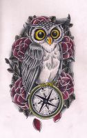 Owl Compass by Kirzten