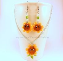 Plants vs Zombies / WoW Singing Sunflower Jewelry by Euphyley