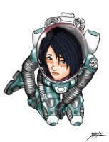 Spacesuit Girl by jarloworks