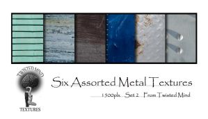 Twisted Mind six assorted Metal Textures Set 2 by Textures-and-More