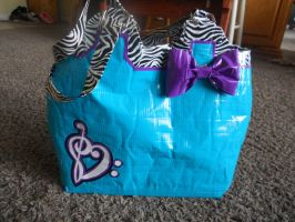 Zebra Music Duct Tape Bag by katiesparrow1