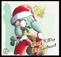 Merry X'Mas Mr Squidward by Asparagus88
