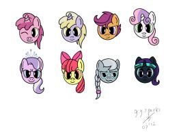 Filly Face Icons by GoggleSparks