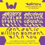Funtastic million moment font by weknow by weknow