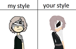 beccaboo13's style and my style by Oswaldlover1