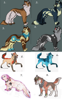 last adoptables by HowlingWolfSong