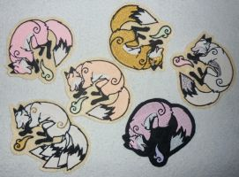 FOR SALE - More luminescent fox patches c: by goiku