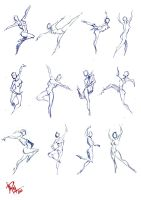 30 seconds female ball pen sketches 1 by mashachruah