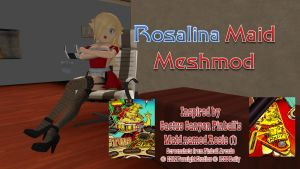 Rosalina Maid Meshmod by FatalitySonic2