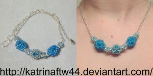 Blue and Silver Necklace for Elizabeth by KatrinaFTW44