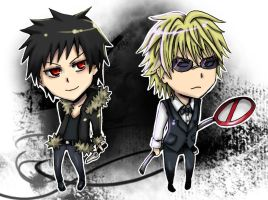 Durarara: Izaya and Shizuo by nyuhatter
