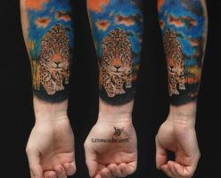 leopard by tattoozone