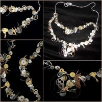 Steampunk Inspired Necklace - Handmade by free--fire
