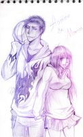 ~Aomine and Momoi~ by Oc-artist-Kat