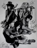 Motley Crue with Signatures by aerokay