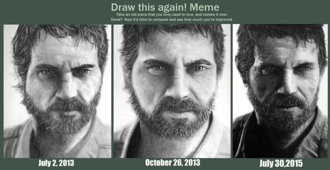Draw this again! Meme (Joel - The Last of Us) by Names76
