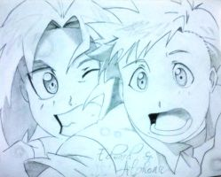 Edward and Alphonse Elric by mikagandacute