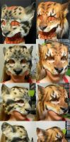 Big Cat LARP Masks by Magpieb0nes